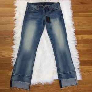 Flying Monkey Cut Off Raw Ankle Jeans